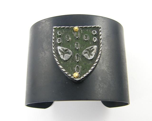 dark brass cuff bracelet
